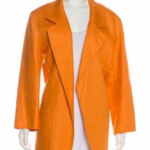 Ellen Tracy Orange Open Jacket